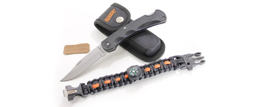 Набор MR395 Marbles Bushy Mountain (нож, чехол, браслет)