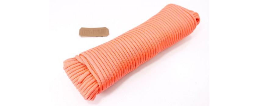 Моток паракорда 30м Orange Light (Оранжевый со светоотражающей нитью) made in China
