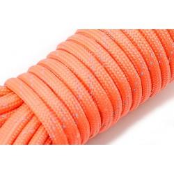 Паракорд Orange Light (Оранжевый со светоотражающей нитью) made in China