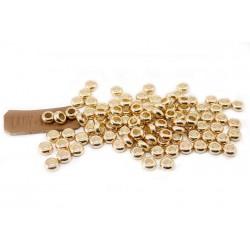 Комплект из 10-ти пластиковых колец (цвет золото) для темляка из паракорда