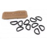 Кольцо D-образное пластиковое для плетения из паракорда