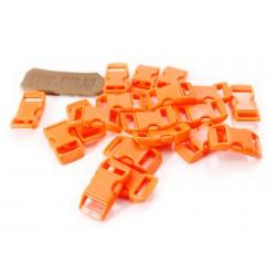 Замок для браслета из паракорда пластмассовый изогнутый Orange
