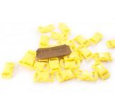Замок для браслета из паракорда пластмассовый изогнутый Yellow