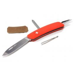 Складной швейцарский нож Swiza D02 Red (красный)