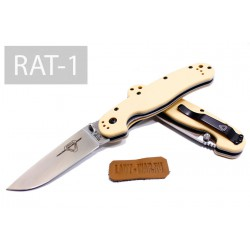 Складной нож Ontario RAT-1 Plain/Desert Tan handle