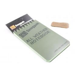 Всепогодный блокнот Snugpak оливковый дизайн