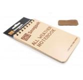 Всепогодный блокнот Snugpak песочный дизайн