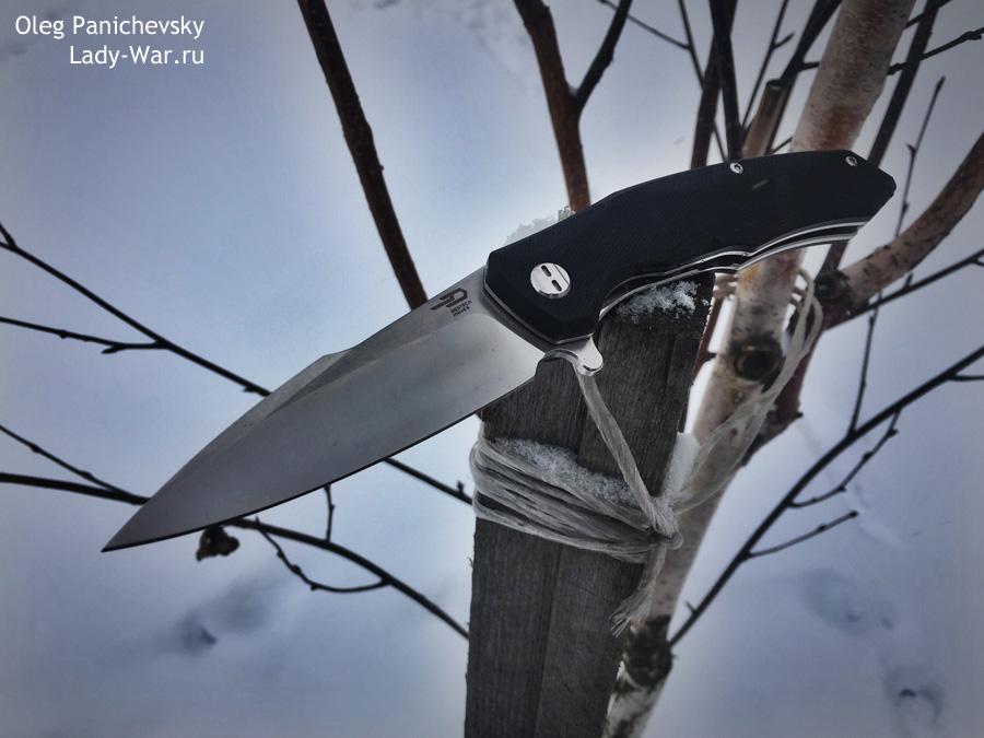 Складной нож Bestech Warwolf Black
