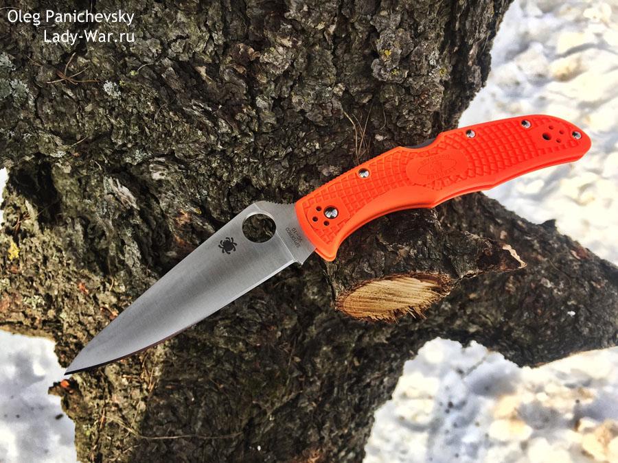 Складной нож Spyderco Endura 4 Flat Ground Orange